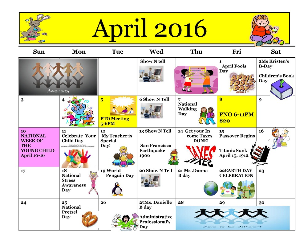 Kiddie Junction Calendar 04-2016