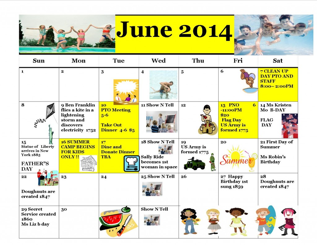 Kiddie Junction Calendar