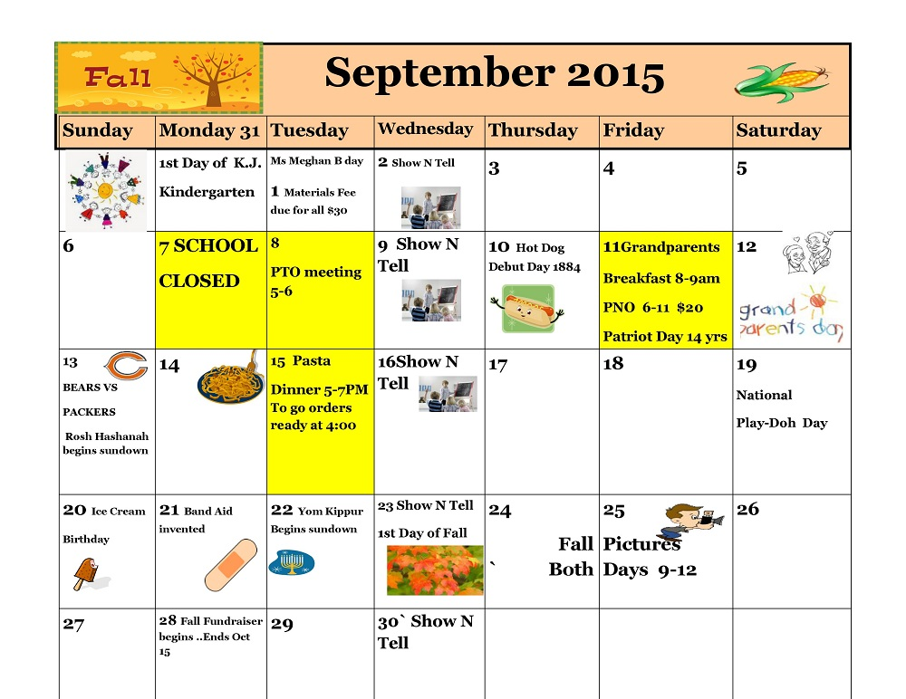 Kiddie Junction Calendar 09-2015