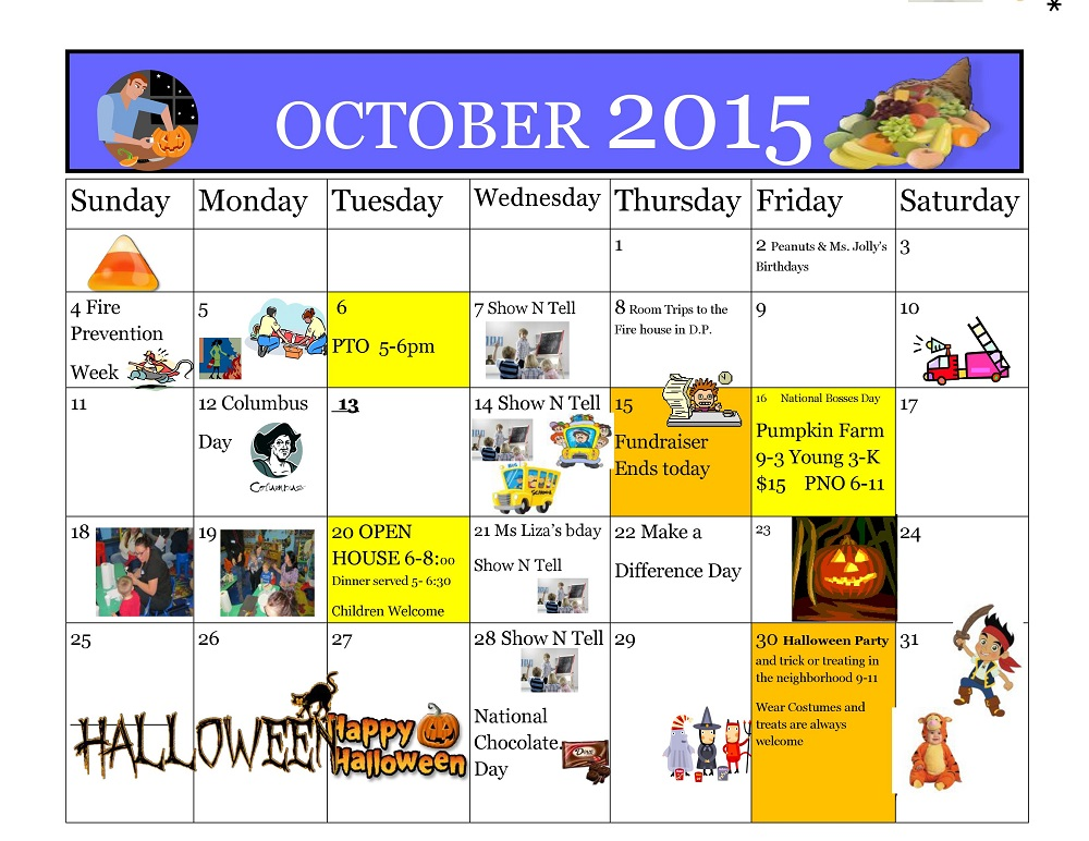 Kiddie Junction Calendar 10-2015