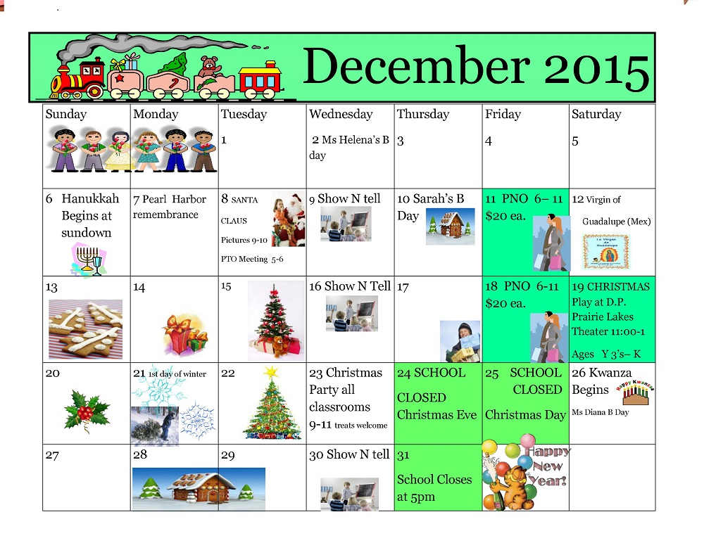 Kiddie Junction Calendar 12-2015