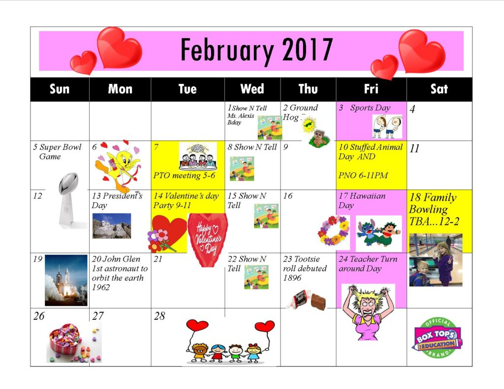 Kiddie Junction 02-2017 Calendar