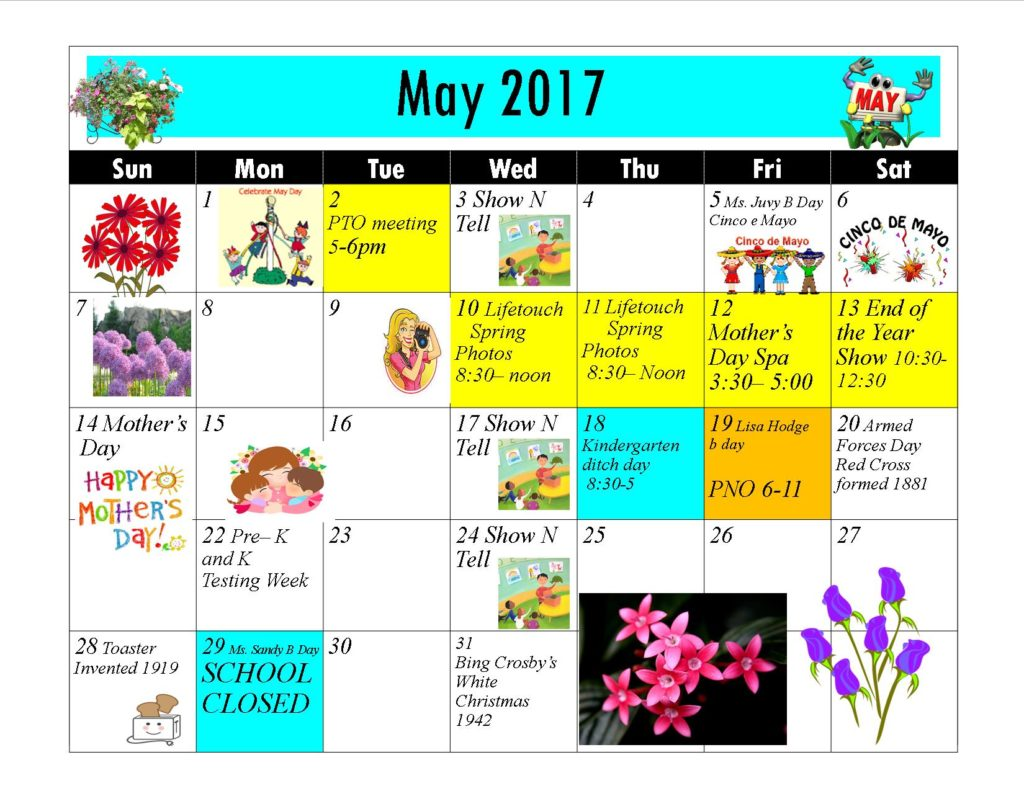 Kiddie Junction 05-2017 Calendar