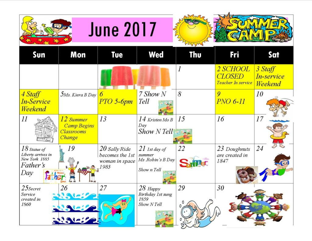 Kiddie Junction 06-2017 Calendar